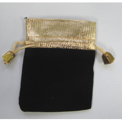 Black and gold little bags, pack of 3