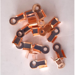 Cord ends, rose gold colour, pack of 40