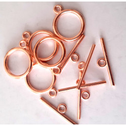 Rose gold colour togles, pack of 10 sets
