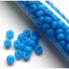 Size 6 aqua blue glass seed beads, per tube