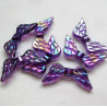 Purple AB wing beads, pack of 10
