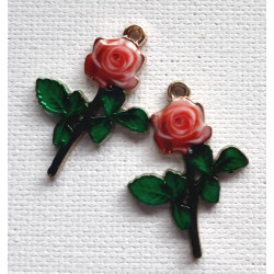 Flower charms, pack of 2