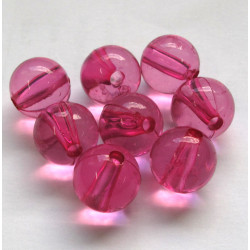 12mm pink acrylic beads, pack of 20