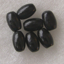 WB2220 - Black wooden oval. Approx 42 per pack.
