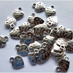 """Hearts """"Made with Love"""", Pack of 100"""
