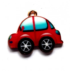 Little red car charm, pack of 2