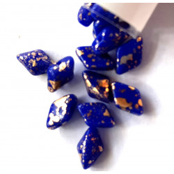 Gemduo royal blue with gold splash