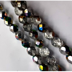 8mm crystal vitrail fire polished, per strand