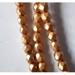 6mm pale gold fire polished, per strand