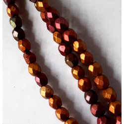 4mm dark rainbow fire polished, per strand