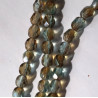 4mm aqua celsian fire polished beads per strand