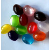 Oval acrylic beads, pack of 20