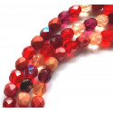 6mm mixed reds fire polished glass beads