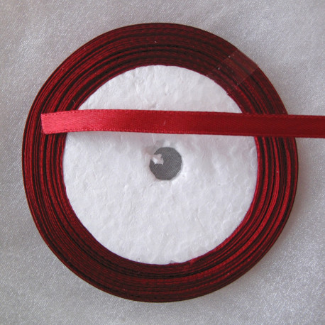 TH2000 - Satin style claret red ribbon. 25 yds roll.