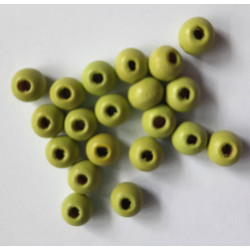 6mm green wooden beads, pack of 75