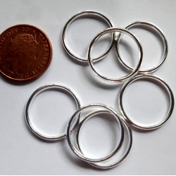 19mm closed jump rings, pack of 10