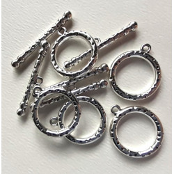 Large toggle clasps, pack of 5 sets