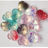 Mixed colour flower beads, pack of 20