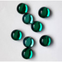 6mm foil backed cabs, emerald, pack of 10