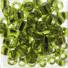SB647 - Size 6 (approx 4mm x 3.5mm) Silver lined lime. Approx 10g
