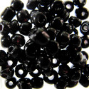 Size 6 seed beads black opaque approx 10g