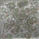 Size 6 seed beads clear AB approx 10g