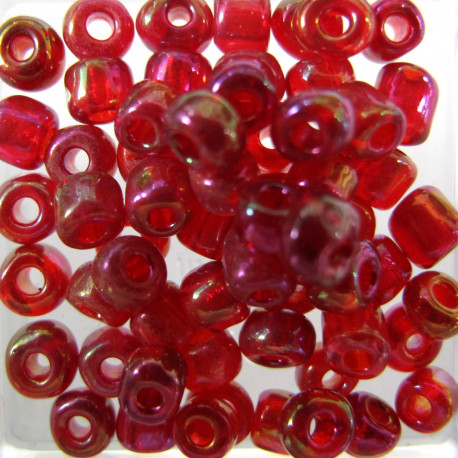 SB682 - size 6 seed beads red AB approx 10g