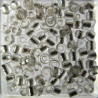 SB800 - Size 8 Silver Lined Seed Beads, Silver, 10g Pack.
