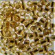 SB820 - Size 8 Silver Lined Seed Beads, Gold