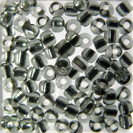 SB830 - Size 8 Silver Lined Seed Beads, Grey