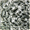 Size 8 silver lined seed beads, grey