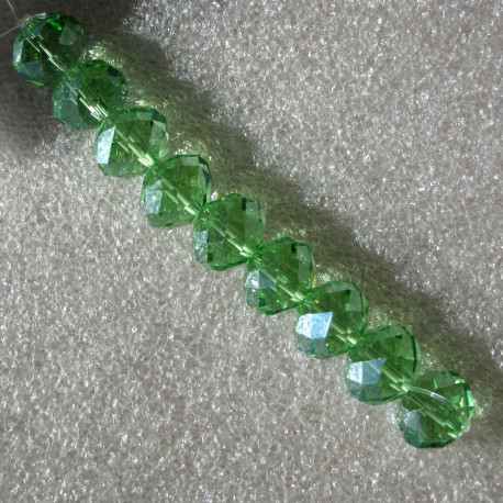 CR9011 - Crystal rondelles 10x14mm mint green