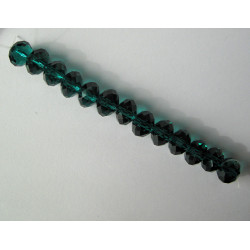 Crystal rondelles 10x8mm emerald green