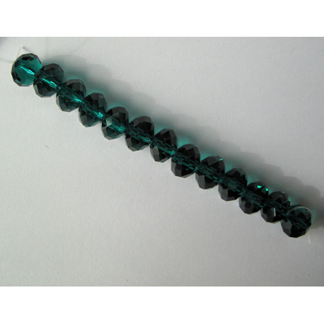CR1309 - Crystal rondelles 10x8mm emerald green