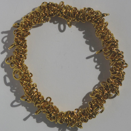 F4000G - Stretchy bracelets, gold colour. Pack of 1