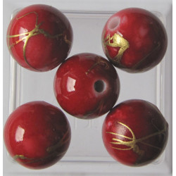 Red acrylic. Pack of 15
