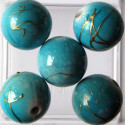 Turquoise blue 12mm bead