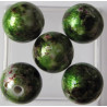 AC5157 - Speckled green 12mm acrylic bead