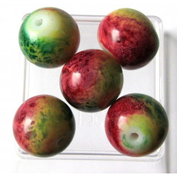 12mm apple bead, pack of 10.