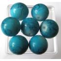 10mm turquoise blue glass bead. Pack of 10