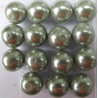 PL1419 -14mm soft moss green glass pearls