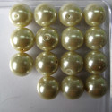 14mm cream glass pearls