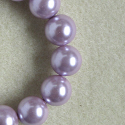12mm dusky lilac pink glass pearls.