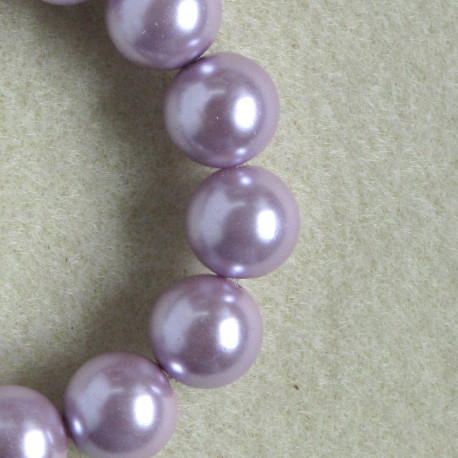 PL1211 -12mm Dusky Lilac Pink Glass Pearls.
