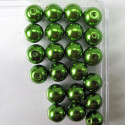 10mm bright green glass pearls