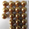 PL1211a -12mm gold/brown  glass pearls