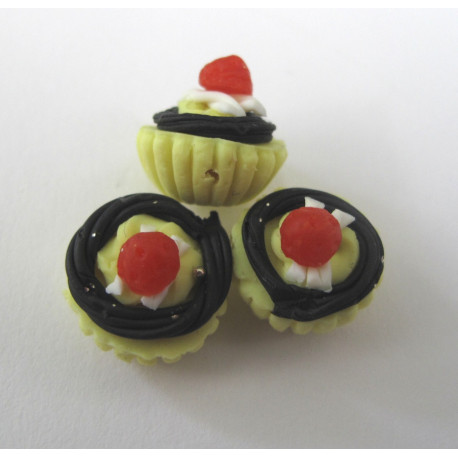 AC4004 - Cup cake bead. Pack of 6