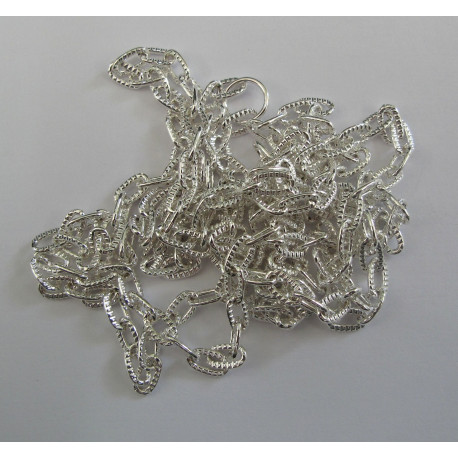CH1112S - 1m length silver colour chain