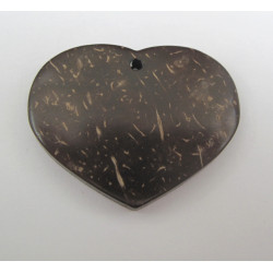 Coco wood heart pendant