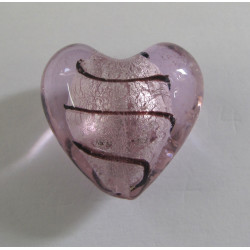 Big pink silver lined heart.